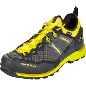 Mammut Alnasca Knit Low GTX Chaussures Homme, black-citron